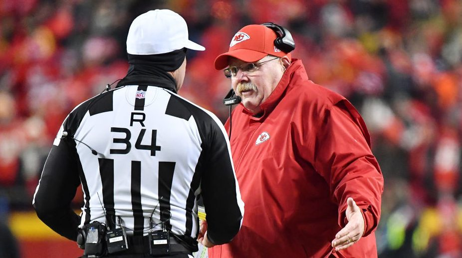 Andy Reid takes issue with roughing, offsides penalties